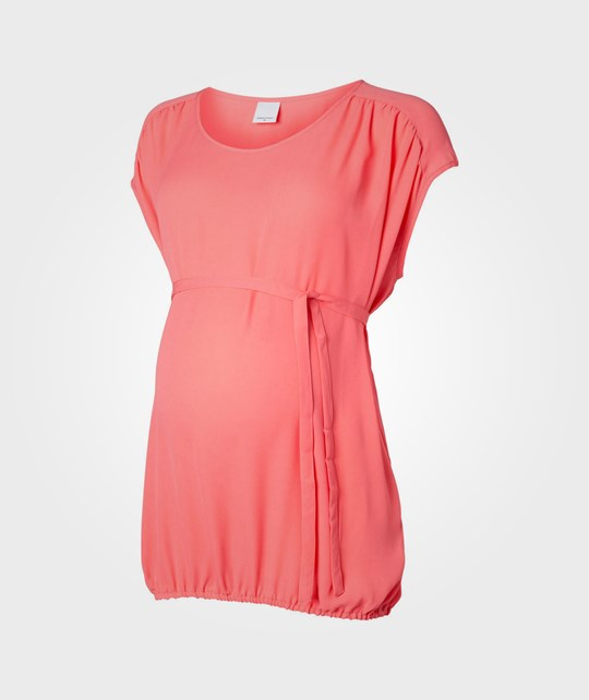Mamalicious Ever S/S Woven Top Calypso Coral Pink