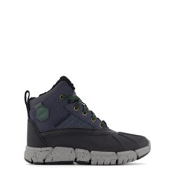 Geox Navy and Green Flexyper Velcro Strap Boots