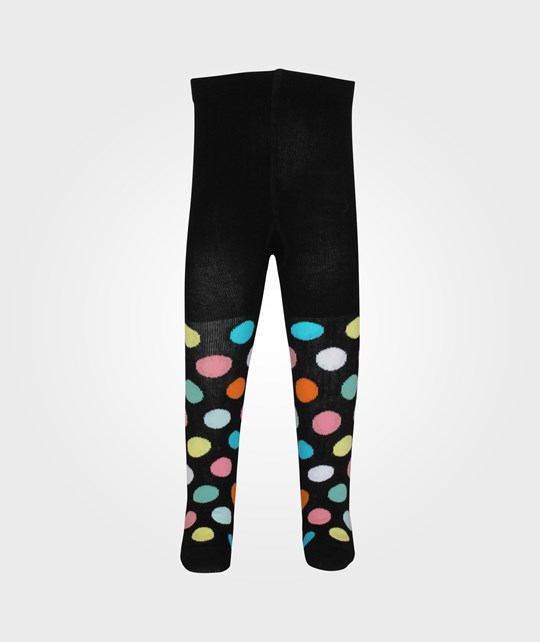 Happy Socks Big Dots Black Tights Black