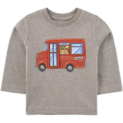 Mayoral Play With Bus Print T-Shirt Gray Melange