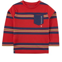 Mayoral Striped T-Shirt Red