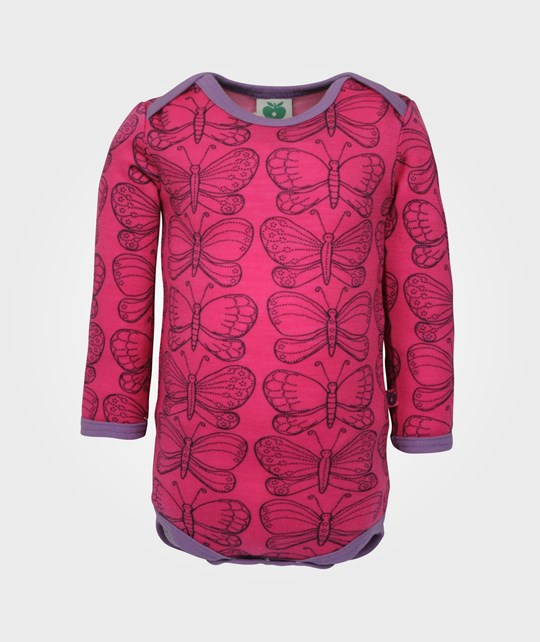 Småfolk Body LS Wool Butterfly Pink