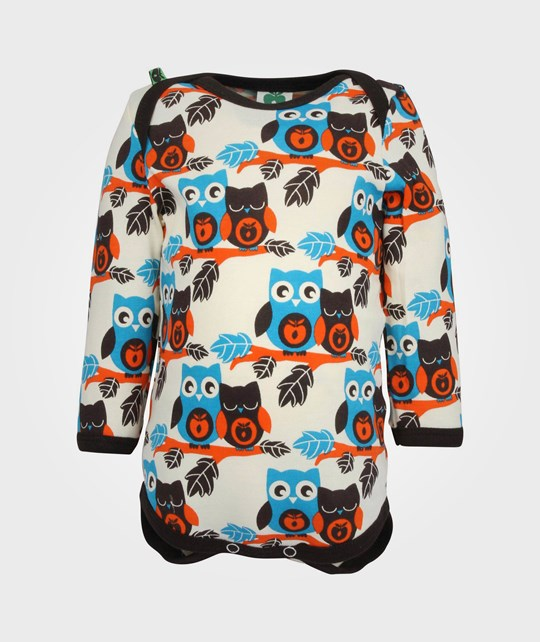 Småfolk Body LS Owls Turquise Turquoise
