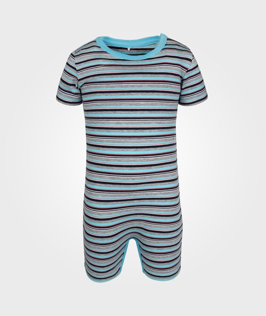 Name it Ib SS Sunsuit Grey Melange Black