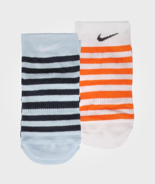 NIKE 2PPK Little Kids Anti-Slip Sock Blue/Orange Multi
