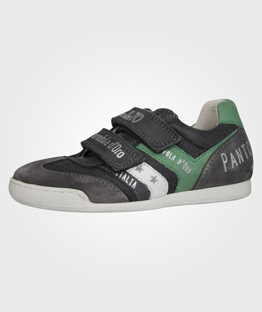 pantofoladoro Loreto Velcro Low Boys Dark Shadow Black