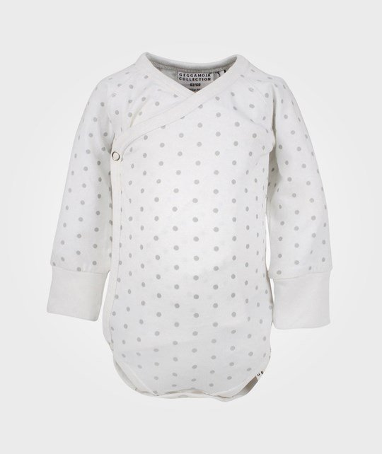 Geggamoja Wrap-Around Body White/Grey dot White