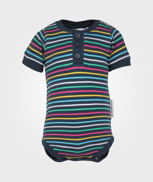 Geggamoja Body S/S Multistriped/Blue Blue