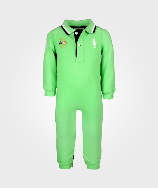 Ralph Lauren Colorblocked Coverall W Big PP Force Green Green