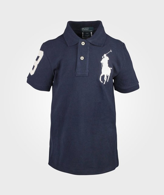 Ralph Lauren SS Custom Fit Polo W/Big Pony Cruise Navy Blue