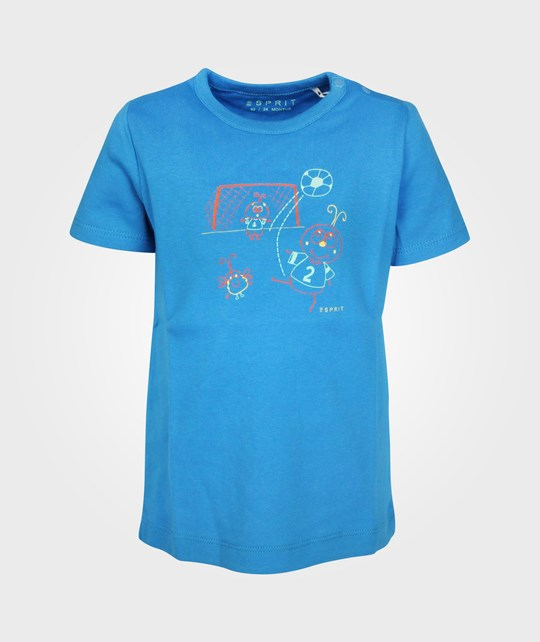 Esprit Football T-shirt Strong Blue Blue