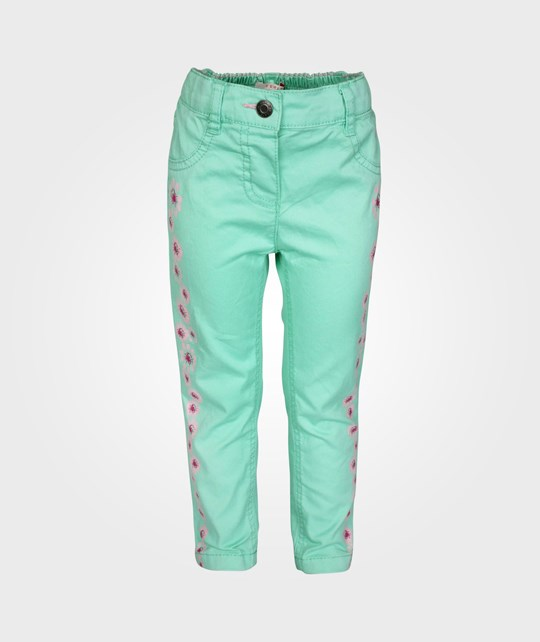 Esprit Printed Twill Pants Iced Mint Green