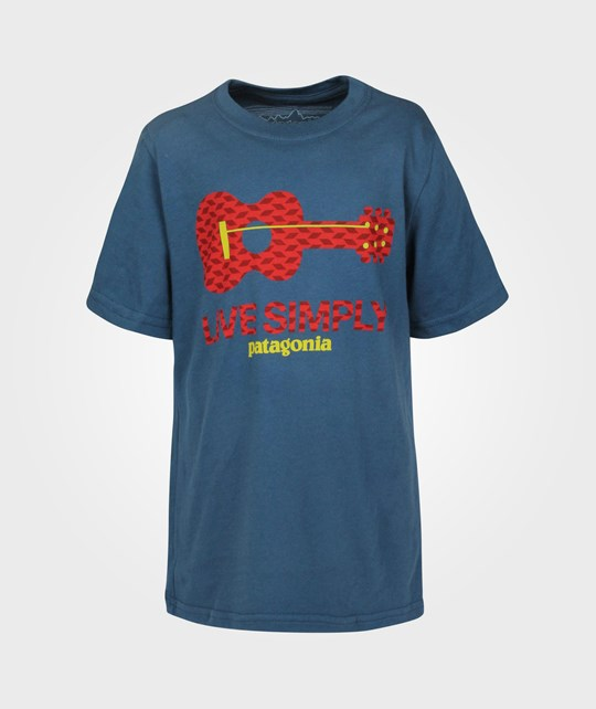Patagonia Boys Live Simply T-shirt Glass Blue Blue