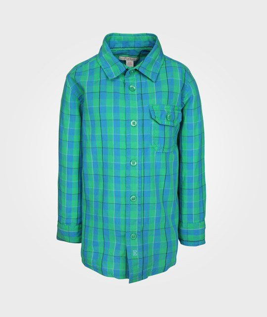 Esprit Check Shirt Clover Green Green