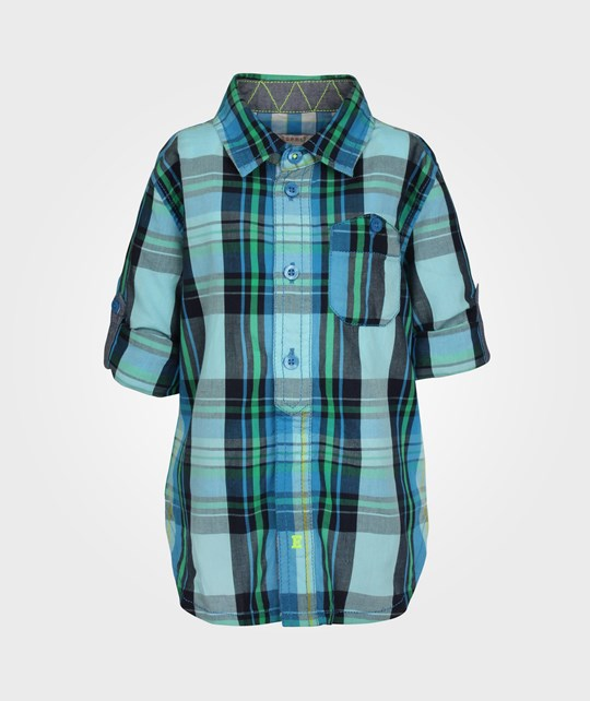 Esprit Check Shirt Strong Blue Blue