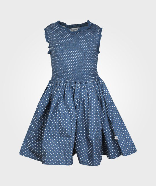 Wheat Dress Dahlia Indigo Blue