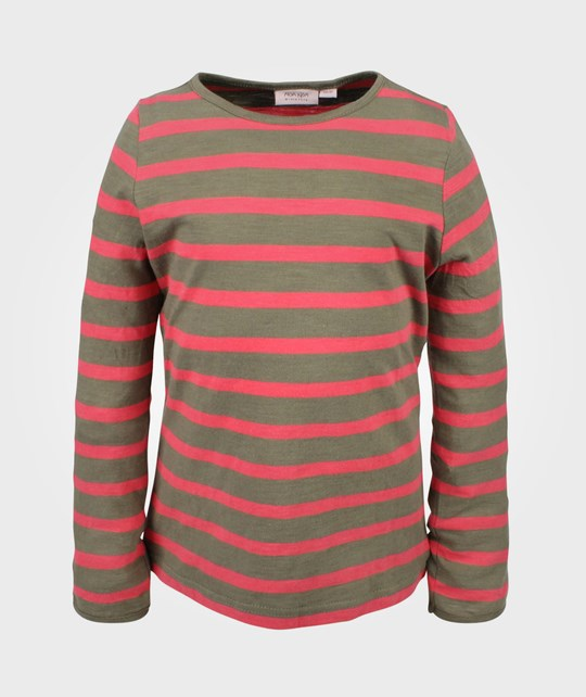 Noa Noa Miniature T-shirt LS Dark Vetiver  Red